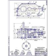 Редуктор коническо-цилиндрический 3-х ступенчатый