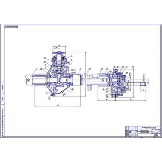 Главная передача автомобиля категории N2 (дифференциал+бортовая передача)
