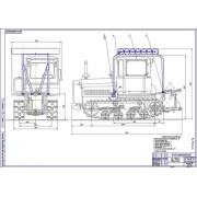 Трактор ДТ-75 общий вид
