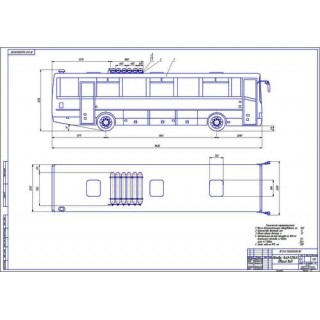 Чертеж автобуса ЛиАЗ общий вид